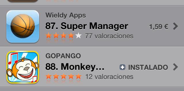 """Datos de descarga del """"Monkey Tunes"""""""