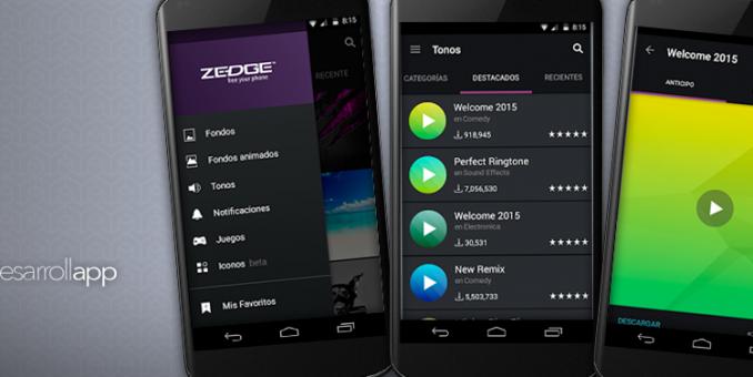 Zedge personaliza tu móvil y se el más original